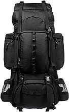 AmazonBasics - Zaino da escursionismo con telaio interno e cerniera antipioggia, 75 L, Nero