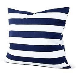 Funda Cojines, ❤️ Manadlian ❤️ Fundas de colchón Rayas de impresión Sofa camaDecoración hogareña Funda de almohada Festival (Azul)