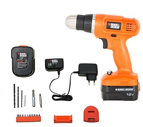 BLACK+DECKER EPC12K2 12-Volts Cordless Drill (Orange)
