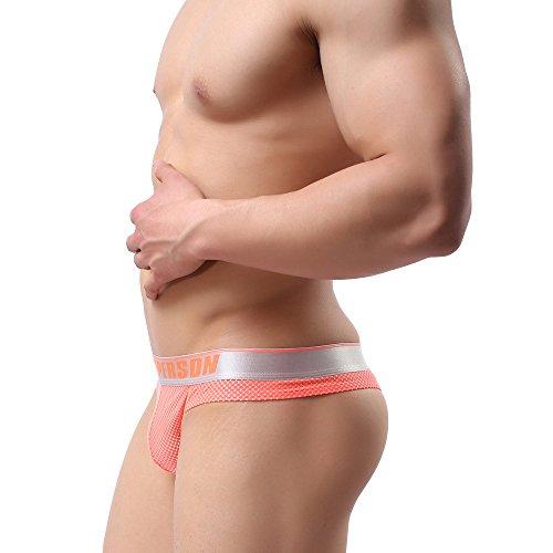 MuscleMate Premium Hot Herren Thong Männer G-String Thong Ultradünner Atmungsaktive Orange