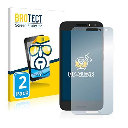 BROTECT Schutzfolie kompatibel mit Alcatel A3 [2er Pack] klare Bildschirmschutz-Folie