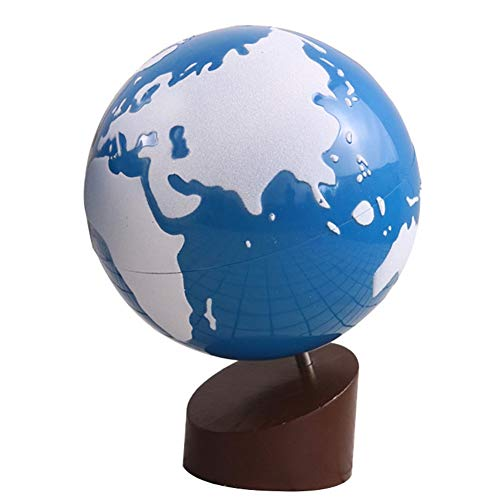 Wagsiyi Globus Die kontinentale Welt und die Wasser-Farbkugel-bereifte Kugel Lehrmittel der Kinder der Kinder Desktop-Globus (Farbe : Weiß, Größe : Free Size) -