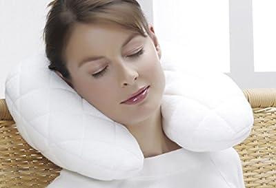 f.a.n. Relax Nackenhörnchen 45x12 cm mit feinstem Double Jersey Bezug (kochfeste Klimafaser) anschmiegsam & formstabil Farbe Weiß