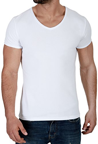 CRSM by Carisma Basic Herren T-Shirt der Marke Carisma Menswear Streetstyle Fashion 4066 White
