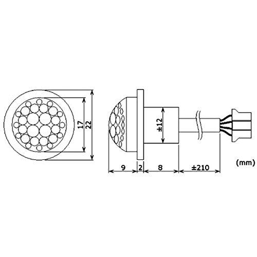 Mini PIR-Bewegungsmelder zum Einbau, 12V DC, 2,6A - 2
