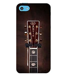 Fuson Designer Back Case Cover for Apple iPhone 5c ( Headphones Earphones Mic Vintage Music )