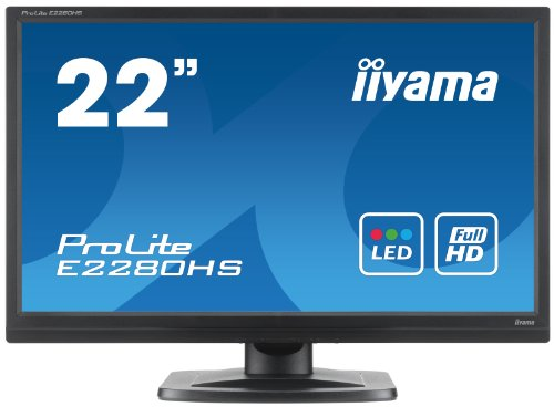 Iiyama ProLite E2280HS 22-inch Backlit LED LCD Monitor - Black