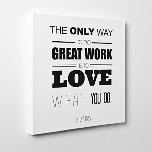 quadro su tela canvas - intelaiato - pronto da appendere - steve jobs quotes - apple think different citazione - 30x30cm - senza cornice - (cod.282)