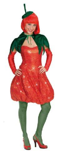 Karneval Damen Kostüm Sexy Erdbeere Kleid heiße Frucht Fasching G 36