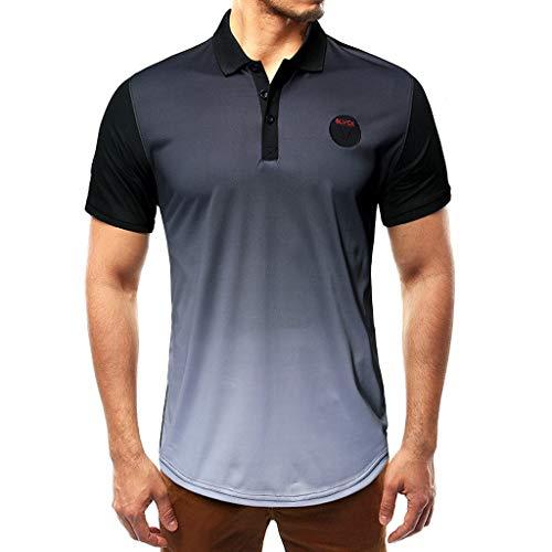 fa50920309e0b Geilisungren Camisetas de Manga Cortas para Hombre Polos Shirt Camuflaje  Camisetas Deportivas Gimnasio Músculo Formación Tank