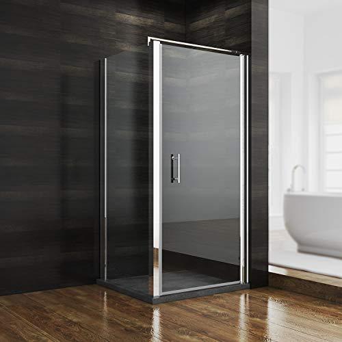 Duschkabine Rechteck Eckeinstieg 80x80x185cm Schwingtür + Seitenwand Duschabtrennung Duschwand Duschtür