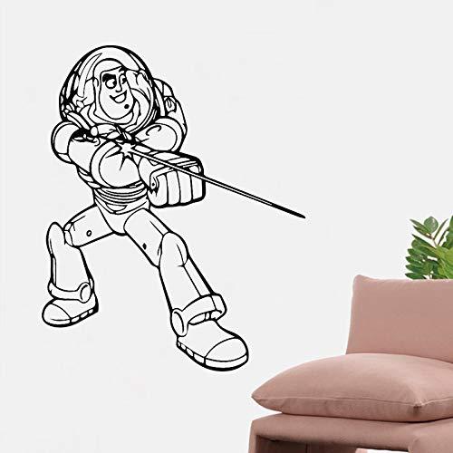 woyaofal Cartoon Spaceman Wandkunst Aufkleber Vinyl Wandaufkleber PVC Material DIY Wandbild für Wohnzimmer Sofa Hintergrund Dekoration Zugang30x37cm