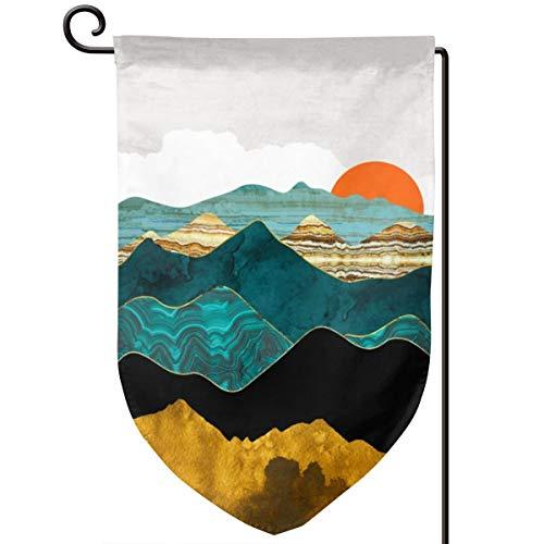 Vista Hirsch (Lilyo-ltd Türkise Vista Garten-Flagge, 31,8 x 45,7 cm, doppelseitig, Polyester)
