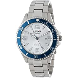 Sector Men's Quartz Watch with Silver Dial Analogue Display and Silver Stainless Steel Bracelet R3253161003