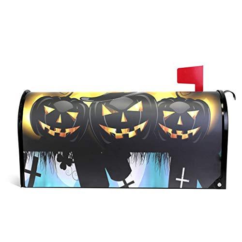 ALAZA Halloween-Kürbis-Magnet-Briefkasten-Abdeckung, Standardgröße, 45,7 x 52,1 cm 25.5x20.8 inch Oversized Multi -