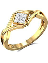 Zaamor Diamonds 18k (750) Yellow Gold And Diamond Ring