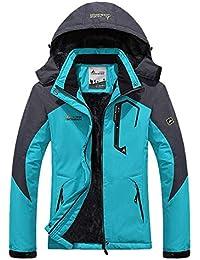3948a250a18 Femme Blouson Ski Automne Hiver Fashion Décontracté Marche Style de fête  Camping avec Fermeture À Glissière