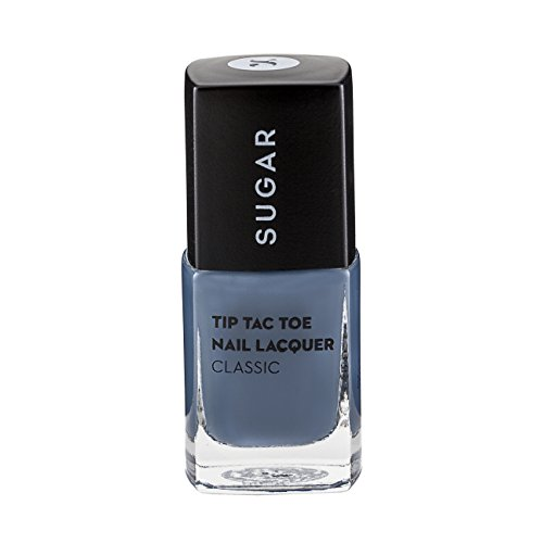 SUGAR Tip Tac Toe Nail Lacquer, 015 Seal The Slate (Blue Grey)