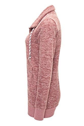 Femmes Veste de survêtement veste polaire veste légère Withered Rose