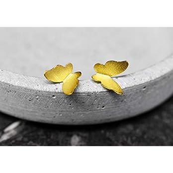 Ohrstecker Schmetterlinge Vergoldet – Silber 925 Sterling – Ohrringe Stecker Butterflies