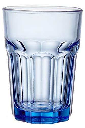 Topkapi 250.657 Longdrink Blau - 6 Stück Miami Blue Glas-Set XL-Gläser (36 cl) für Cocktail, Longdrink, Mojito, Saft, Wasser, Höhe ~12 cm Blau Glas