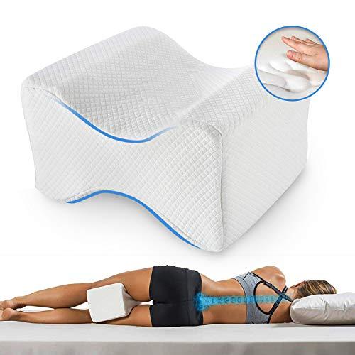 Almohadas piernas para dormir, Cojín ortopédico para almohada con de memoria para durmientes de lado...