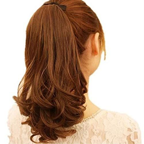 (Fliyeong 1 Stücke Haarteil Pferdeschwanz Wellenförmige Clip Haarverlängerungen Synthetische Haar Lockige Haarteile Für Frauen Haar Styling Hellbraun)