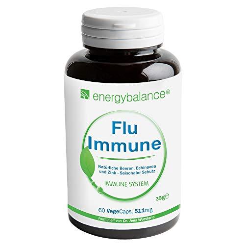 Synergie Reines Ätherisches Öl (Flu-Immune 511mg | natürlicher Immunsystem Komplex | Hohe Bioverfügbarkeit | Antioxidantien | Vegan | Glutenfrei | Ohne Zusatzstoffe | 100% reine Zutaten | GVO-frei | Nahrungs-Äquivalent | 60 VegeCaps)