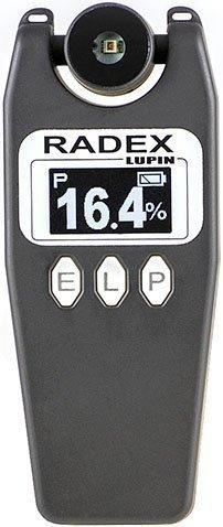 RADEX LUPIN. Profi-Prüfgerät und Kalibriereinrichtung der Monitore, der Glühlampen und der LED-Lampen. Luxmeter, Helligkeitsmessgerät, Reflektometer und Flickermeter.