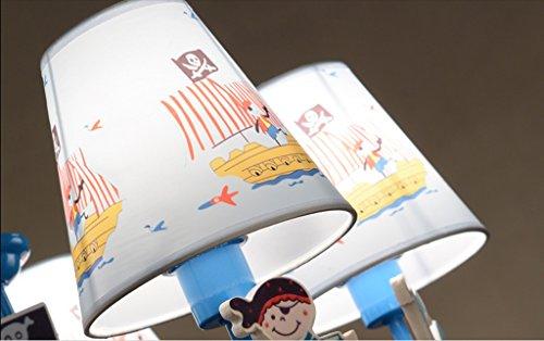 Kinder Schlafzimmer Kronleuchter Scandinavian Boat Jungen Studie pastoral Mittelmeer Mode Persönlichkeit Cartoon-Lampen - 6