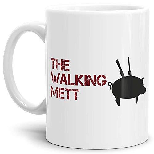 Tassendruck Spruch-Tasse The Walking Mett - Kaffeetasse/Mug/Cup - Qualität Made in Germany