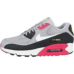 Nike Air Max 90 Essential, Chaussures de Trail Homme, Multicolore (Wolf Grey/White-Rush Pink-Volt 020), 42.5 EU