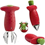 Moonar® Strawberry Berry Stem Leaves Huller Gem Remover Removal Fruit Corer Kitchen Tool