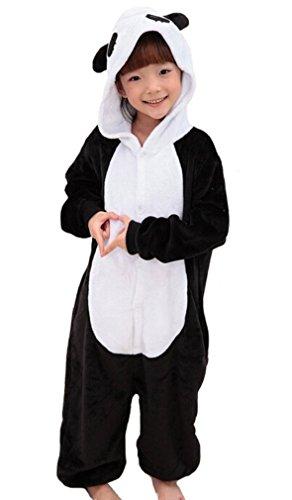 Nicetage Kinder Cosplay Onesie Jumpsuits Anime Kostüm Pyjama Overall Hausanzug Panda (Cute Panda Kostüme)