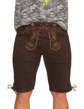 Hangowear Trachten Herren Jeansshorts - Color Short - Dunkelbraun