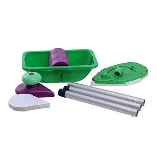 Taoytou 9 stücke Farbe Roller Tray Schwamm Pads Kits Hause Malerei Pinsel Wand Decor Tool -