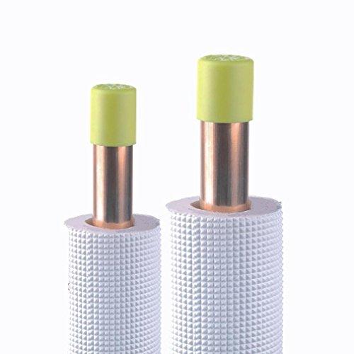 liaison frigorifique double - 1/4 et 3/8 - isolée pe - blanc - 30 mètres - cu07 - eid distribution 30tis1438