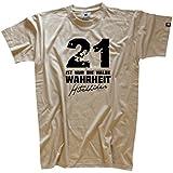 Shirtzshop Herren T-Shirt 21 ist nur die halbe Wahrheit - Hitchhikers