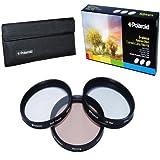 Polaroid Optics 40.5mm 3 Piece Special Effect Camera/Camcorder Lens Filter Kit (Soft Focus Revolving 4 Point Star Warming)