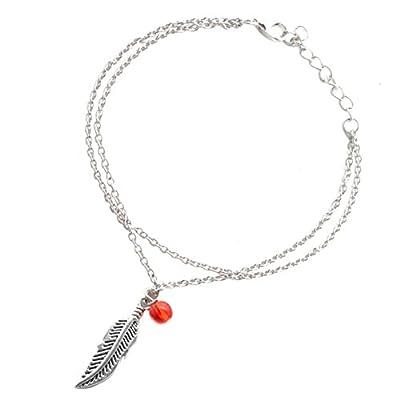 Upapa Mode Plage Cheville Bracelet de Cheville Chaîne de Pied Accessoires avec Perle d'imitation Réglable pour Femme Fille