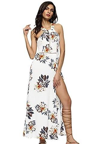 Long White Halter Dress - La Femme A Été Scindé Long Beach