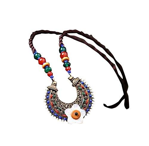 Multifunktionale Frauen im Freien Halskette Nützliche Strickjacke/Mantel-Kette