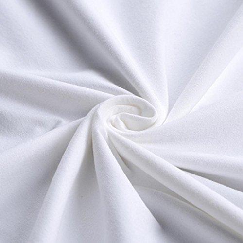 Amlaiworld S~XXXXL, Uomo Divertente Stampa Tees Shirt Bianca O-Collo Camicia Manica Corta Bianco