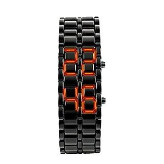 Herren Metallriemen Lava Digital LED Anzeigen ArmbandUhr