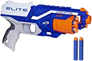 Nerf Disruptor Elite Blaster, 6-Dart Rotating Drum, Slam Fire, Includes 6 Official Nerf Elite Darts, For Kids