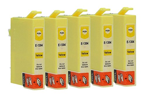 5 Cartuchos de tinta compatible con Epson T1304 (Amarillo)