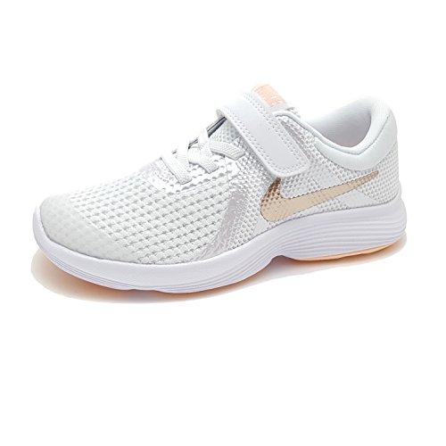 Nike Revolution 4 GS Scarpe Sportive Donna Bianche 943306100 (37.5)