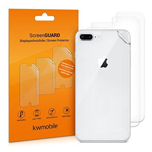 kwmobile 3x Pellicola protettiva retro per Apple iPhone 7 Plus / 8 Plus - Qualità premium