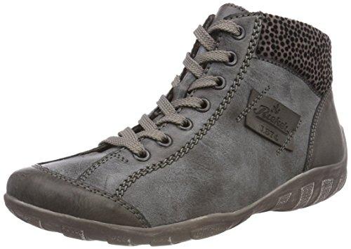 Rieker Damen L6540 Hohe Sneaker, (Fumo/Asphalt/Grau 45), 37 EU
