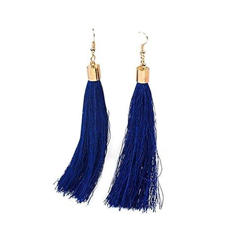 Womens Earring,Clode® 1Pair 12cm Ladies Girls Bohemia Long Tassels Fringe Dangle Earrings Pendant Earrings for Wedding,Party,Holiday